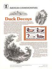 #2138-41 22c Duck Decoys USPS Cat. #239 Commem Panel