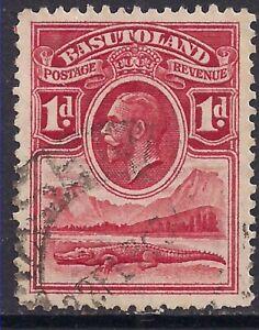 Basutoland 1933 KGV 1d Scarlet used SG 2 ( B107 )