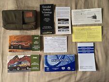 2007 Jeep Grand Cherokee SRT8 Owners Manual Set + NAV Book w/Case-Free Ship!