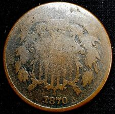1870 Two Cent Piece 2 Cent US Copper Coin*