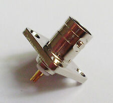BNC Female Jack with 4 holes Flange Panel Chassis Mount Coaxial Solder Connector