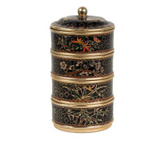 La Chine 20. siècle, Boîte-a CHINESE CLOISONNE ENAMEL Food Container-chinois cinese