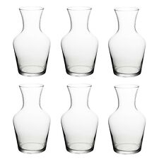 6 x 1L Glass Water Juice Drink Jugs Wine Whiskey Decanter Carafe Restaurant Cafe