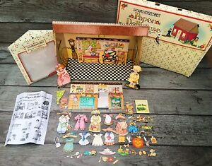 VTG Mary Engelbreit Paper Dollhouse HUGE Lot With Accessories & Magnetic Dolls