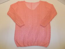 CROCHET TOP LONG SLEEVE WOMEN'S M PINK BEAUTIFUL!