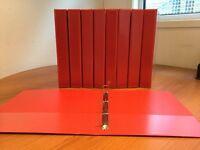 X 20 A4 RED Presentation Ring Binders 4 D Ring 25mm File PVC Folders