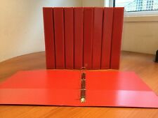 Job Lot X 50 A4 RED Presentation Ring Binders 4 D Ring 25mm File PVC Folders