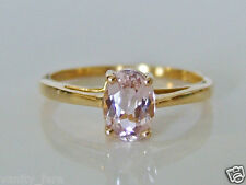 Beautiful 9ct Gold Minas Gerais Kunzite Ring Size L 1/2