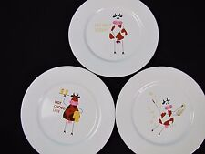 3 NO MILK White Dinner Plates ASA Selection Design Made Germany Cows Whimsical