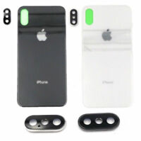 OEM New Battery Glass Cover Housing Back Door Replacement For iPhone X 10 & Lens