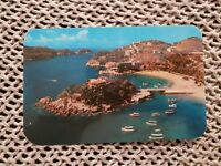 Panoramic View of Caleta & Caletilla Beaches - Vintage Postcard
