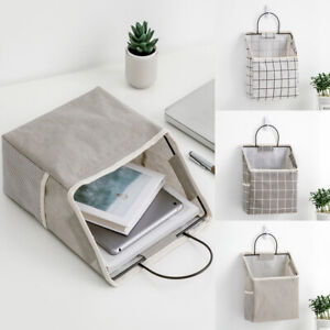 Canvas Couch Hanging Bedside Organiser Bag Wall Mounted Holder Home Storage 1PC
