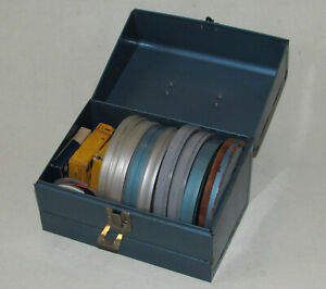 """VINTAGE 8MM 5"""" METAL FILM REEL LOT 1960s HOME MOVIE Silver Dollar City vacation"""