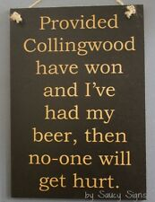 Collingwood Magpies Beer Aussie Rules Football Sign Bar Shed Man Cave Pub Cards