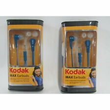 Kodak Max Earbuds Lot of 2, with Integrated Microphone & Tangle Free Flat Wire