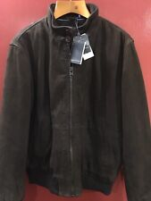Marc O Polo Goat Suede Men's Brown Bomber Jacket Sz 52 Or L (NWT)