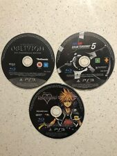 PS3 Games Discs Only The Elder Scrolls IV, Kingdom Hearts & Gran Turismo 5