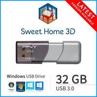 Sweet Home 3D 2020 Windows 32GB USB 3.0 Interior Design CAD Suite Home Architect