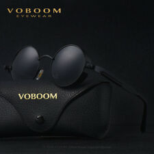 Vintage Polarized Steampunk Sunglasses Fashion Round Mirrored Sunglasses VB-1