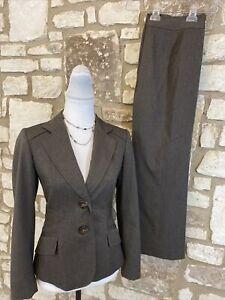 Tahari Petite Women's 2Pc Pant Suit Brown Size 4P