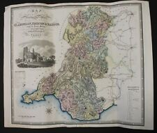 GREENWOOD, C. & J. Map of South East Wales. Coloured engraved map. 1831.