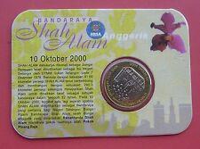 Malaysia 2000 Pengisytiharan Bandaraya Shah Alam Ringgit Bimetallic Coin in Card