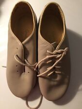 NEW Leo's Dancewear Giordano TAN Tap Shoes SIize 3 M  NWOB UNISEX #5026