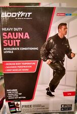 BodyFit Heavy Duty Sauna Suit S/M Accelerate Conditioning Levels New in Box