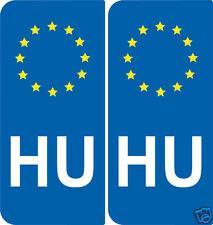2 Adesivi registrazione stile Europa Ungheria