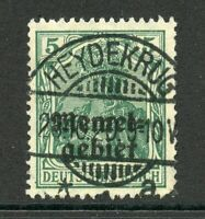 Memel Nr. 1c gestempelt, geprüft mit Befund Huylmans BPP, B0228