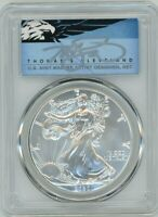 2020 $1 1 OZ Silver Eagle PCGS MS70 First Day Of Issue Thomas Cleveland Blue
