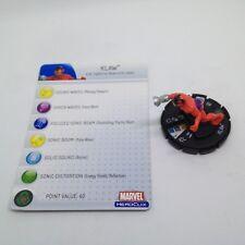 Heroclix Captain America set Klaw #210 Gravity Feed figure w/card!
