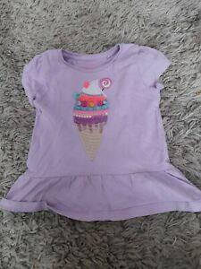 Girls Purple Icecream T Shirt Next 18-24 Months