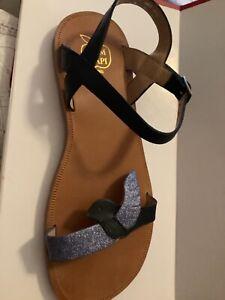 NEW Pom D'api Plagette Birds Leather Sandals - EU 37/US 4.5