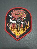 "KING DIAMOND Music Band ""Flames"" Patch Jacket, T-Shirt Iron on Clothing Badge"