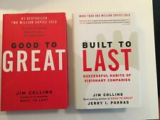 2 books by Jim Collins: Good to Great + Built To Last - Free Shipping!