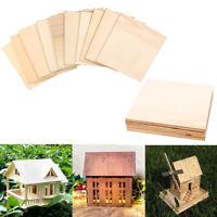 10Pcs Wooden Plate Model Wood Sheets House Ship Aircraft DIY Mould  Nice