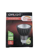 "Civilight LED Spotlight GU 10""HALED 7 W Warm White 827 Ra   95, Black"