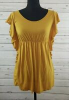 Monroe and Main Golden Yellow Shirt Blouse Women's Size Large