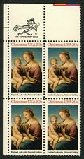 #2063 20c Madonna and Child, Zip Block [UL], Mint **ANY 4=FREE SHIPPING**