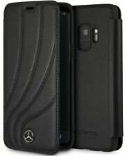 Genuine Mercedes Organic II Leather Book Case for Samsung Galaxy S9