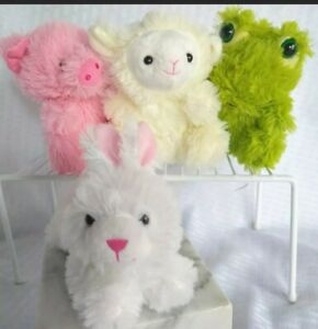 "New Easter Bunny Plush Bundle Lamb Frog Pig 5.5"" Stuffed Animal Set Lot 4 Toys"