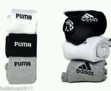 Combo Set of 6 pairs Adidas and Puma logo Sports ankle length Socks