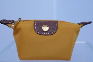 New Longchamp Pouch Le Pliage Mini Zip Coin Pouchette Sunshine Pouch