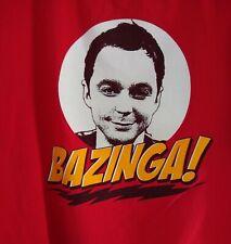 Big Bang Theory Bazinga T-shirt Size 2 XL Red EUC