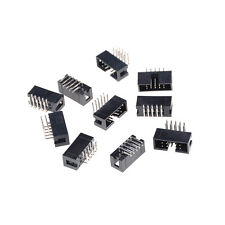 10PCS DC3-10P 2.54mm 2x5 Pin Right Angle Male Shrouded header IDC Socket  WE