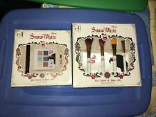 DISNEY SNOW WHITE ELF Makeup Brush Travel Case  Set NEW And Eye Collection