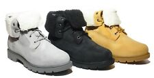 Timberland Mujeres Linden Woods Impermeable Plegable hacia abajo Teddy Polar Gris A1GYB