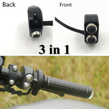 !Paar Schwarz CNC 22mm Lenker Motorrad Drei Druckschalter Kontrolle Wasserdicht