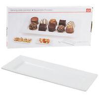 White Porcelain Rectangular Serving Plate Dish Side Dishes Tray Kitchen Platter